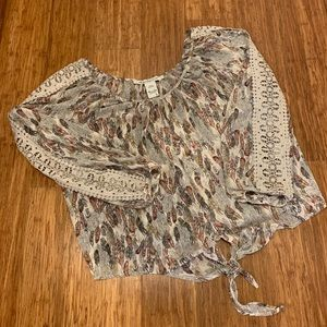 American Rag Feather Print Top